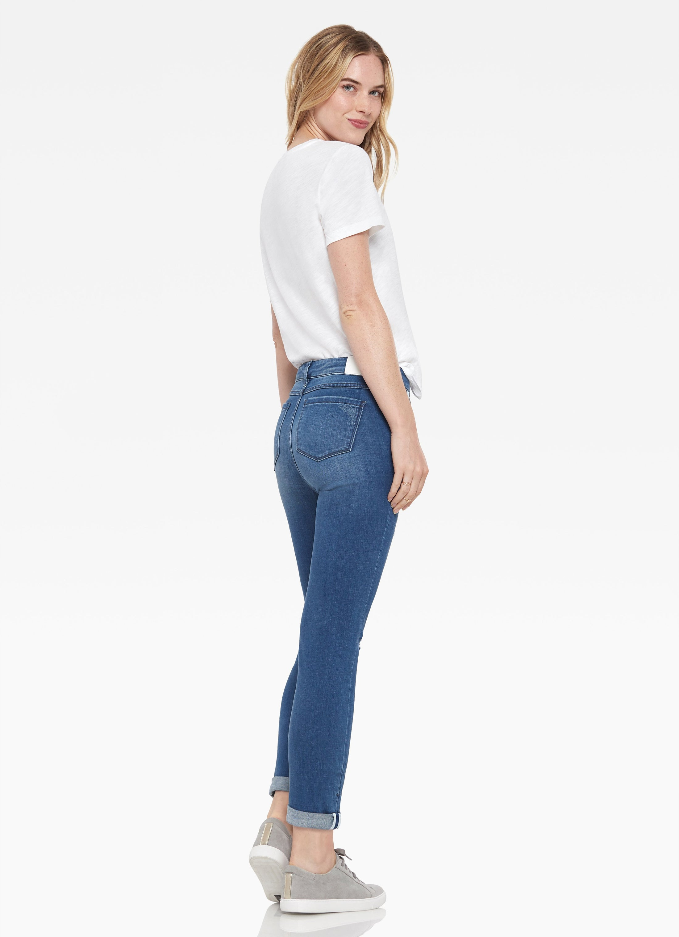 Silver Lake Distressed Slim Jean