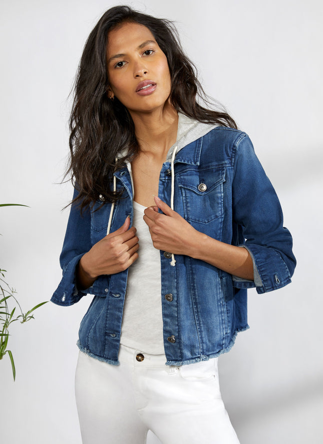 Jean Jacket with Zip Out Hoodie