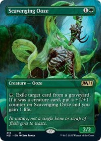 Scavenging Ooze (Alternate Art) [Core Set 2021] | North Game Den
