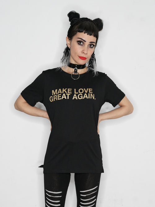 The Tribe Berlin // Make love great again t-shirt // black