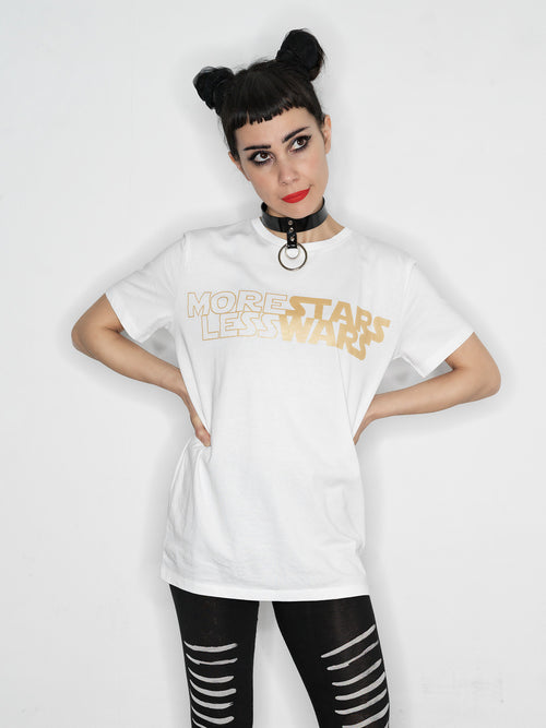 The Tribe Berlin // More Stars Less Wars t-shirt // white