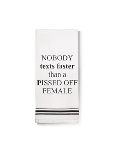 LA Trading Co - Towel - Pissed Off Female