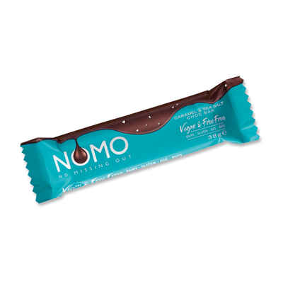 Caramel & Sea Salt Choc Small Bars - NOMOCHOC