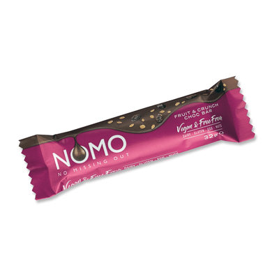 Fruit & Crunch Choc Small Bars - NOMOCHOC