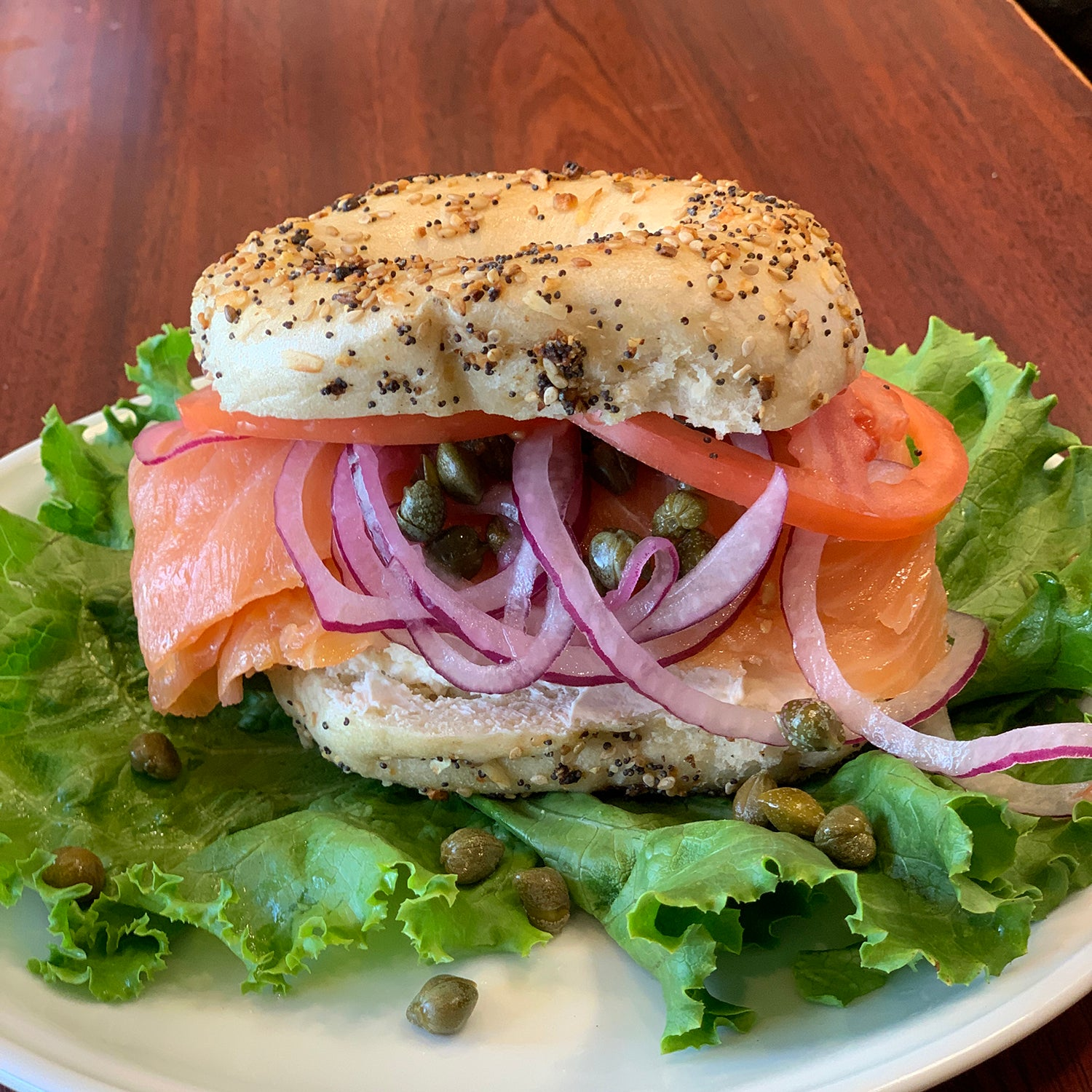 Novie - Sliced Lox, Cream Cheese Tomatoes, Onion, Capers
