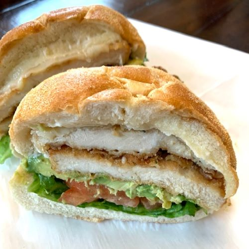 Concordia - Breaded Chicken Cutlet, Muenster, Avocado, Lettuce, Tomato
