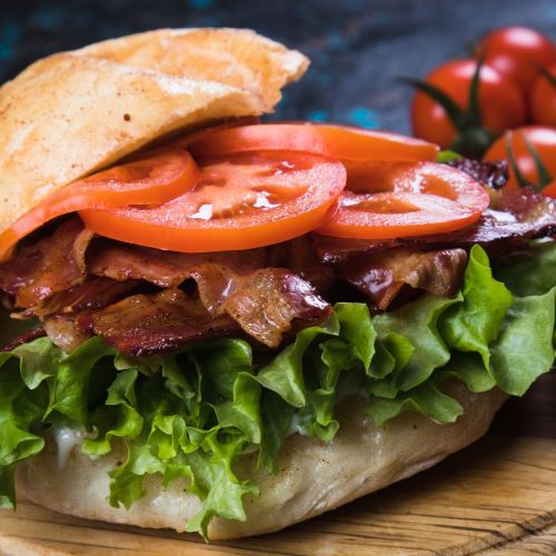 Park Place Bagel Bacon Lettuce Tomato Sandwich
