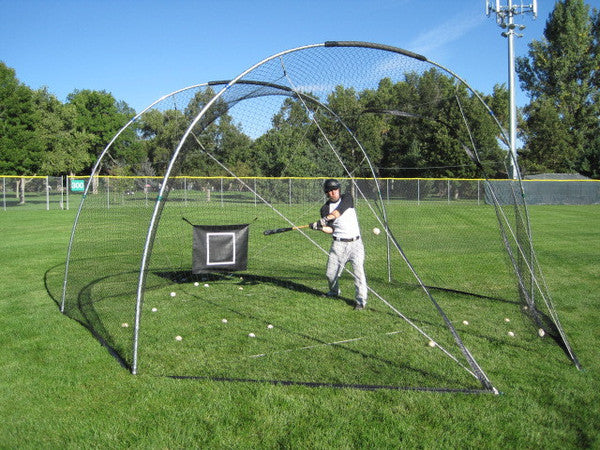 Metal Shelters For Batting Cage : Backyard batting cage portable for mobile