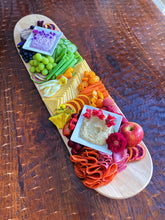Load image into Gallery viewer, Skateboard Serving Tray- 2 BOWLS, 2 PLATES