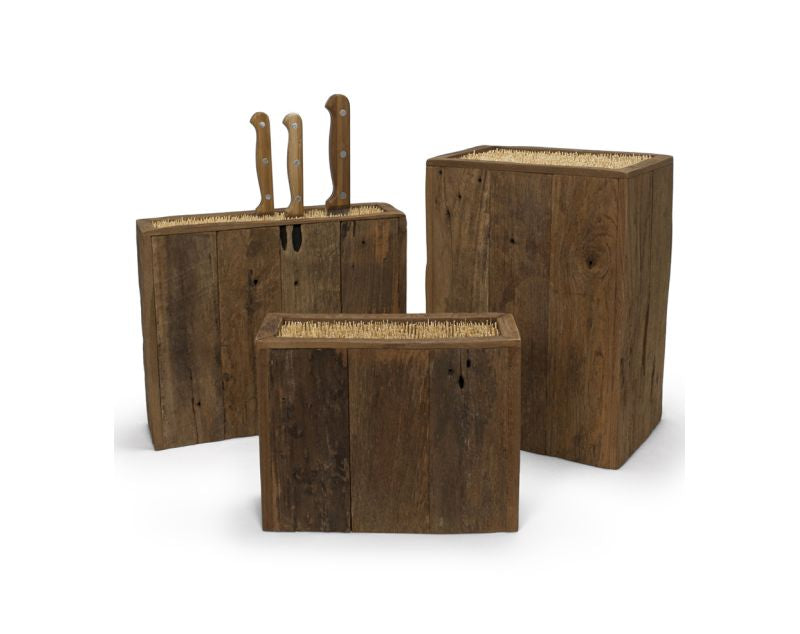 Reclaimed Knife Block
