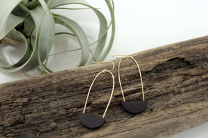 Half Moon Earrings | Black