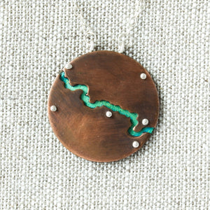 Crooked River Copper Necklace