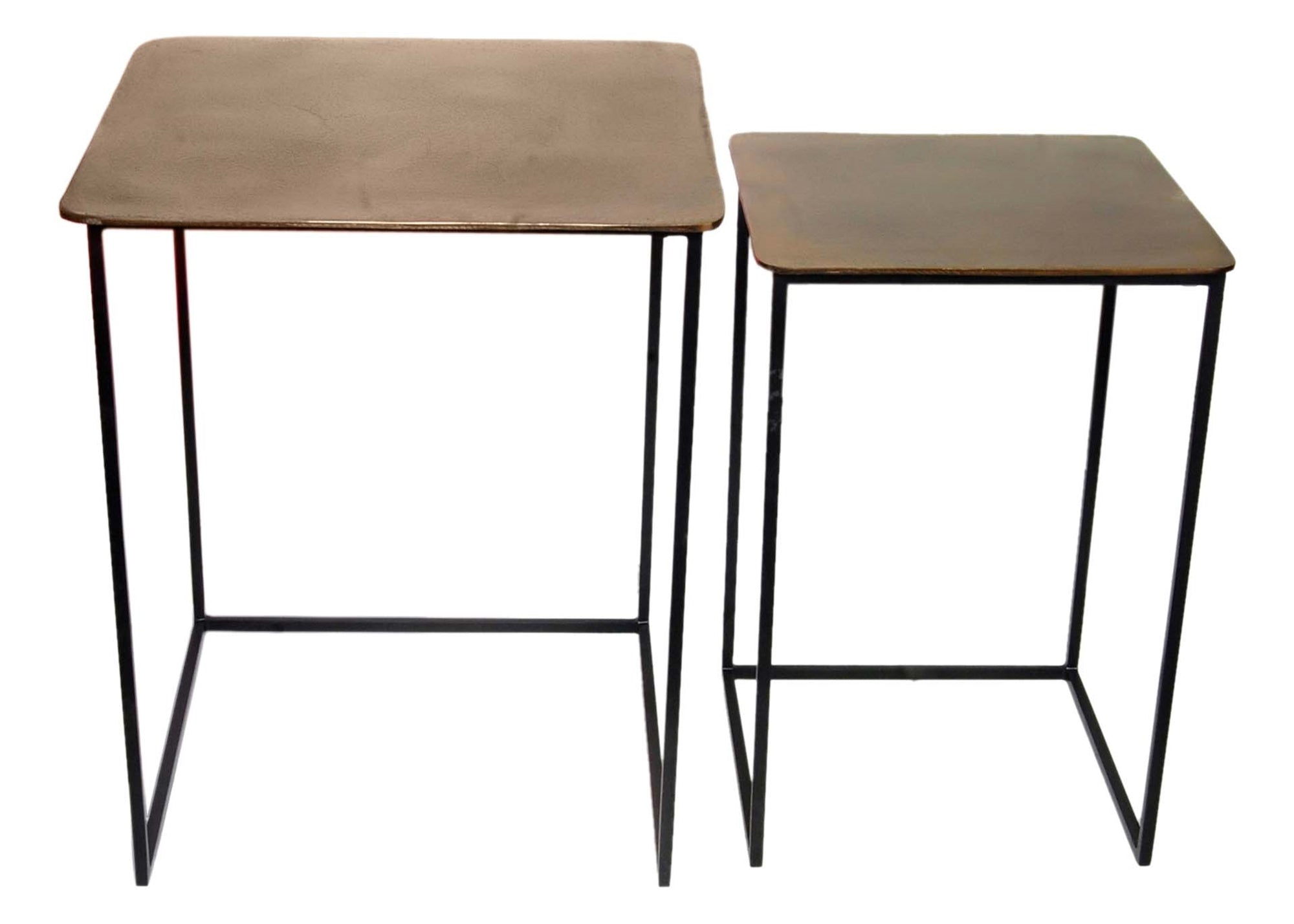 Raw Brass and Iron End Tables
