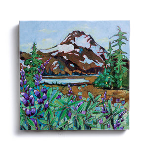 Mt. Jefferson Print on Block