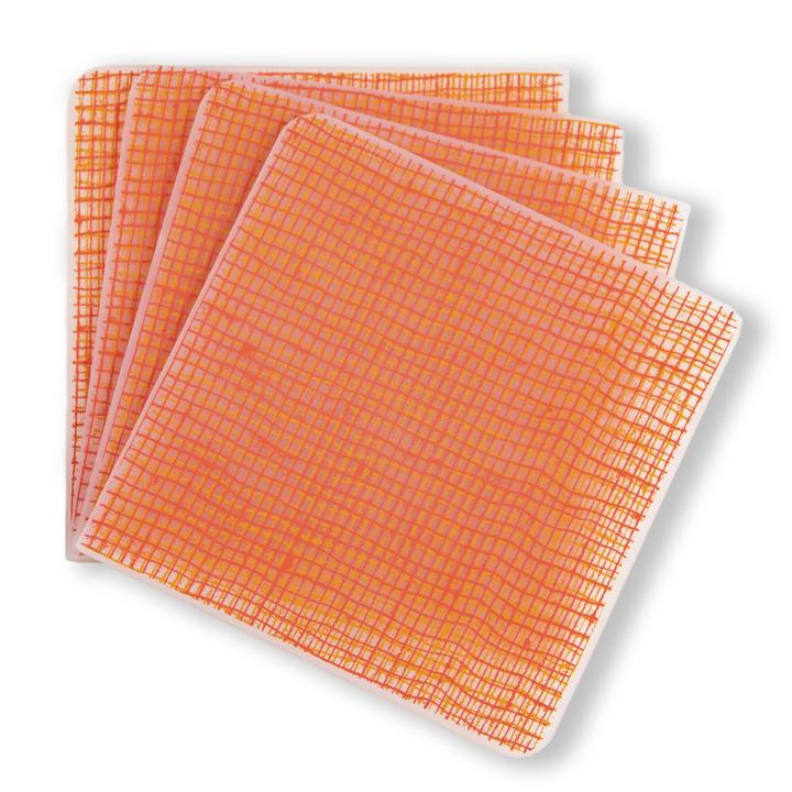Silicone coasters free from plastic and chemicals dishwasher safe available in a variety of colors and patterns.