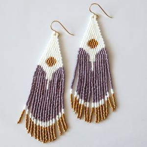Lavender + Moon Earrings