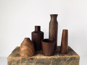 Hand Turned Walnut Sculptural Objects