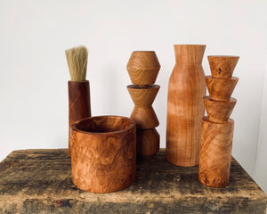 Hand Turned Maple Burl Sculptural Objects