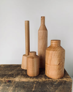 Hand Turned Maple Sculptural Objects