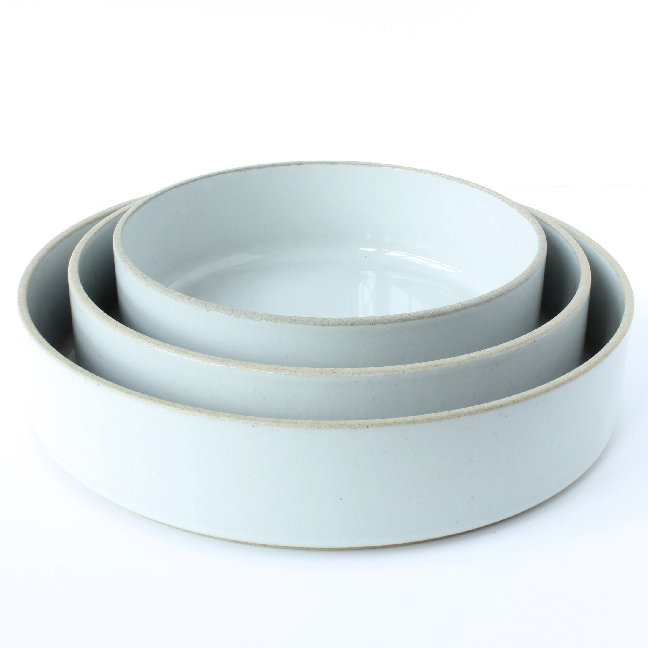Gloss Grey Japanese Porcelain Bowls