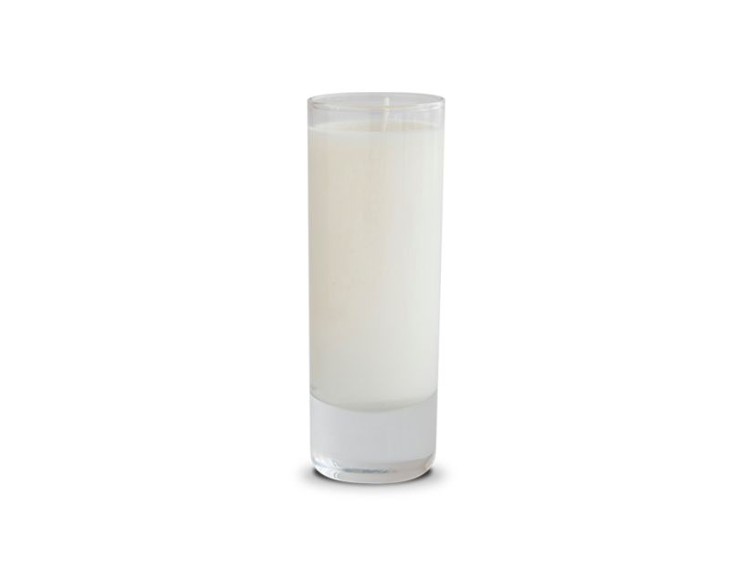 Scented votive candle made with soy wax