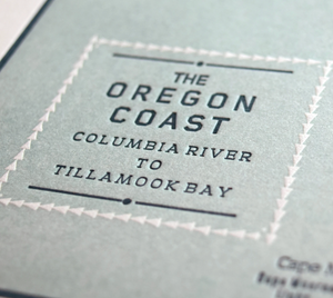 Oregon Coast Map Letterpress Print
