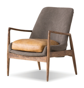 Reynolds Modern Canvas + Leather Chair