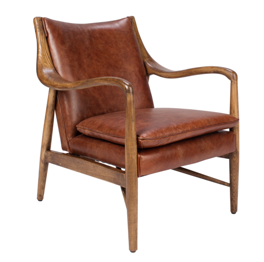 Kiannah Club Chair | Brown