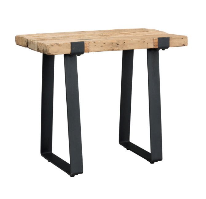 Sherwood Reclaimed Wood + Steel End Table