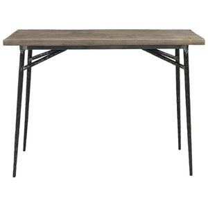 Gracewood Reclaimed Elm + Iron Console Table
