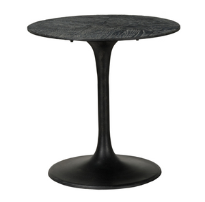 Crestview Black Iron and Wood End Table