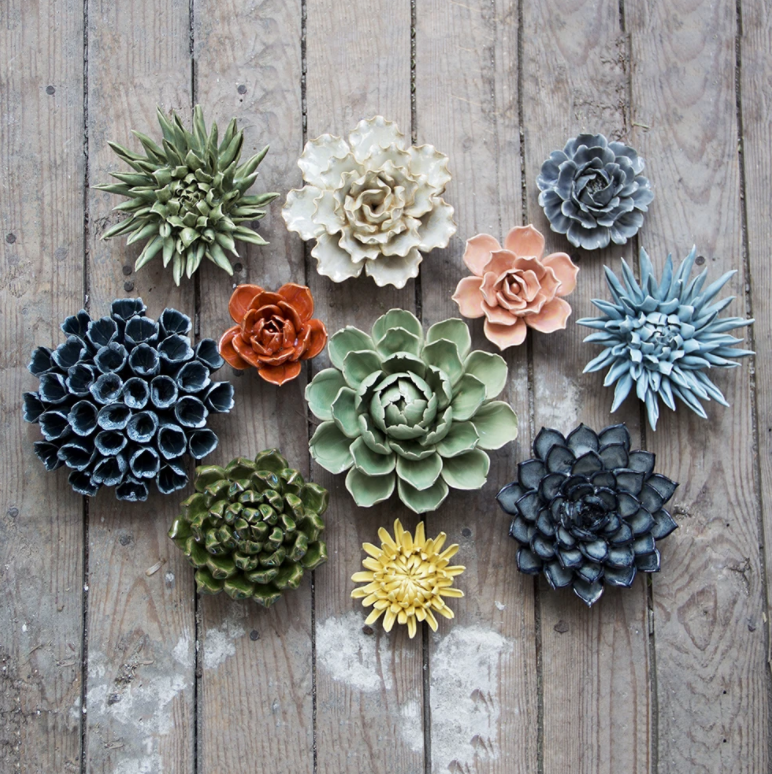 Ceramic Flower Decor