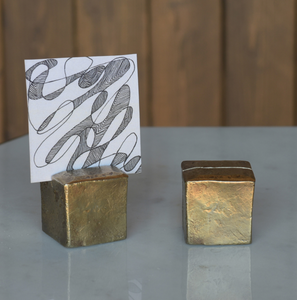 Brass Place Card Cubes