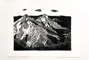 Three Sisters Block Print