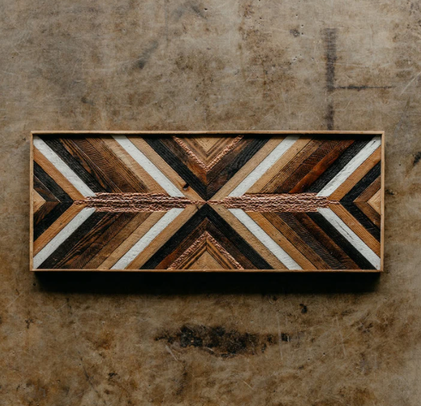 Reclaimed Lath + Copper Art