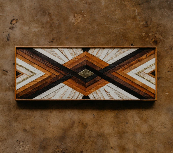 Reclaimed Wood + Brass Large Art