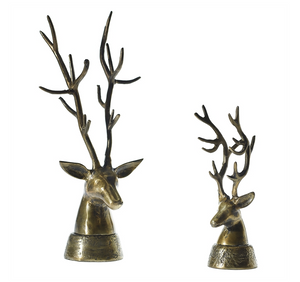 Antique Brass Deerheads