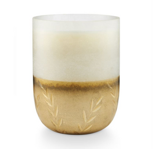 Winter White Large Frosted Glass Candle