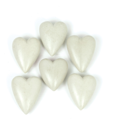 Stone Hearts Light Grey