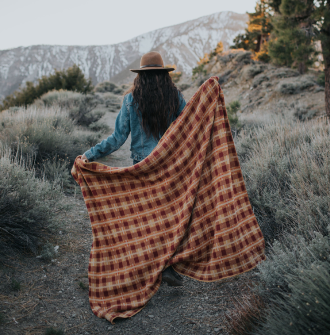 Hudson Plaid Throw