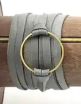 Leather Wrap Circle