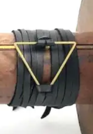 Leather Wrap Triangle