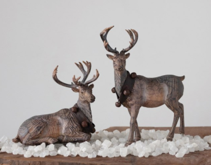 Resin Reindeer | Bedding Down