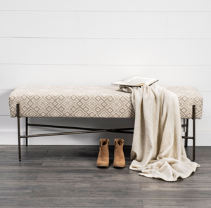 Avery Bench | Cream