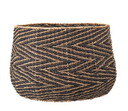Chevron Seagrass Basket | Large