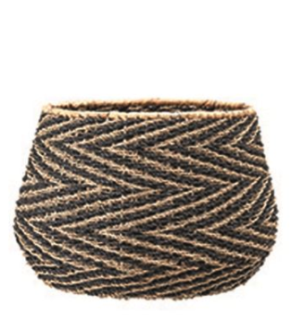 Chevron Seagrass Basket | Small