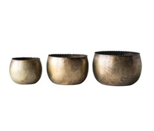 Antique Brass Planters
