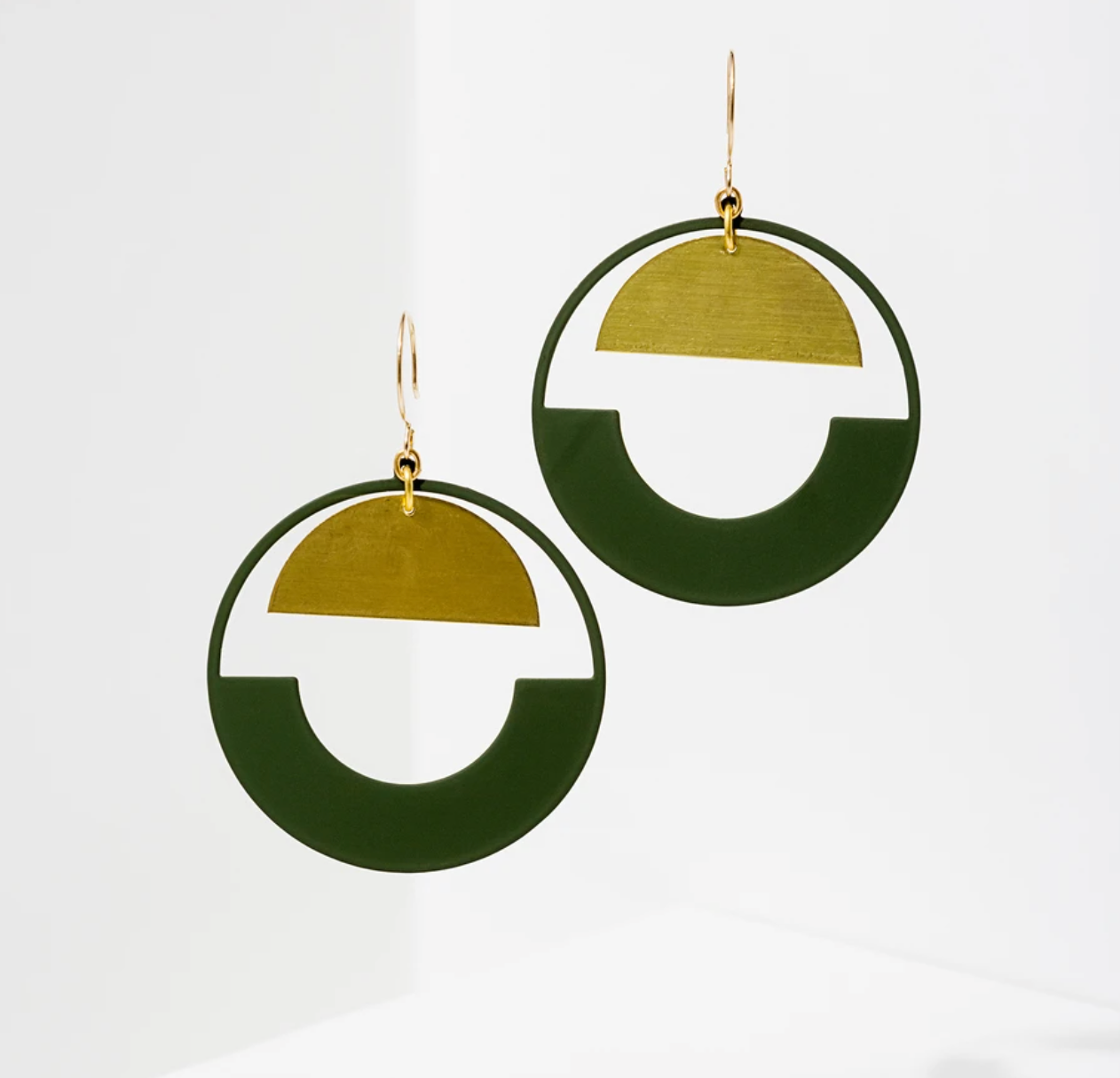 Baltic Hoop Earrings | Green