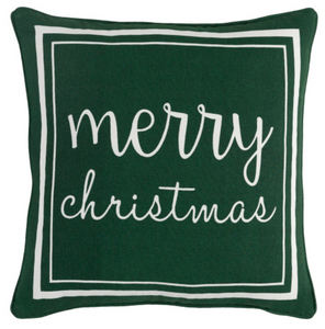 Merry Christmas Pillow | Green
