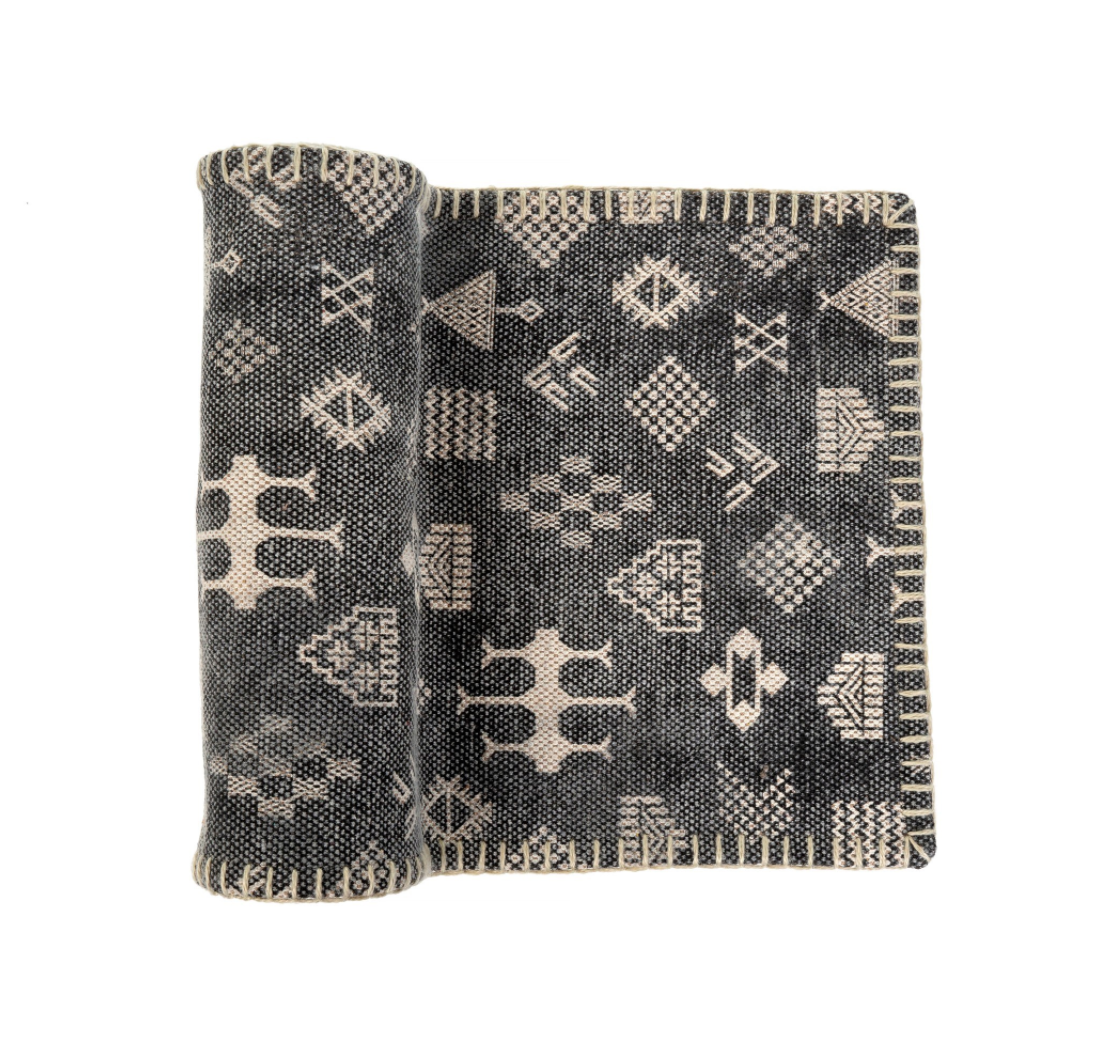 Boho Table Runner | Black